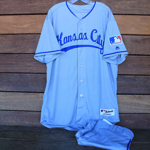 Photo of Game-Used 1969 Throwback Jersey and Pants: Brian Flynn (Jersey Size 50 - KC @ WSH  - 7/6/19)