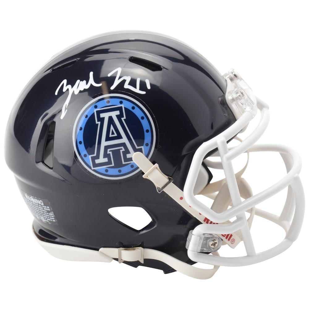 Zach Hyman Toronto Maple Leafs Autographed Toronto Argonauts CFL Mini Helmet