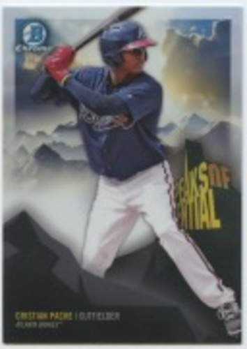 Photo of 2018 Bowman Chrome Peaks of Potential Refractors #PPCP Cristian Pache