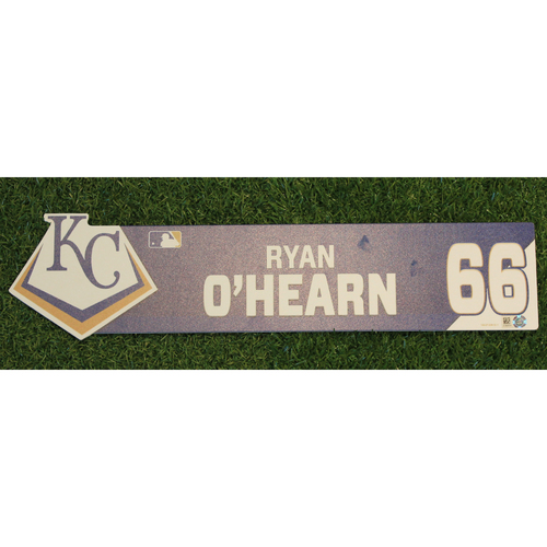 Photo of Game-Used Locker Nameplate: Ryan O'Hearn (TOR @ KC - 7/31/19)