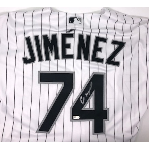 Photo of Eloy Jimenez Autographed Jersey - Size 50