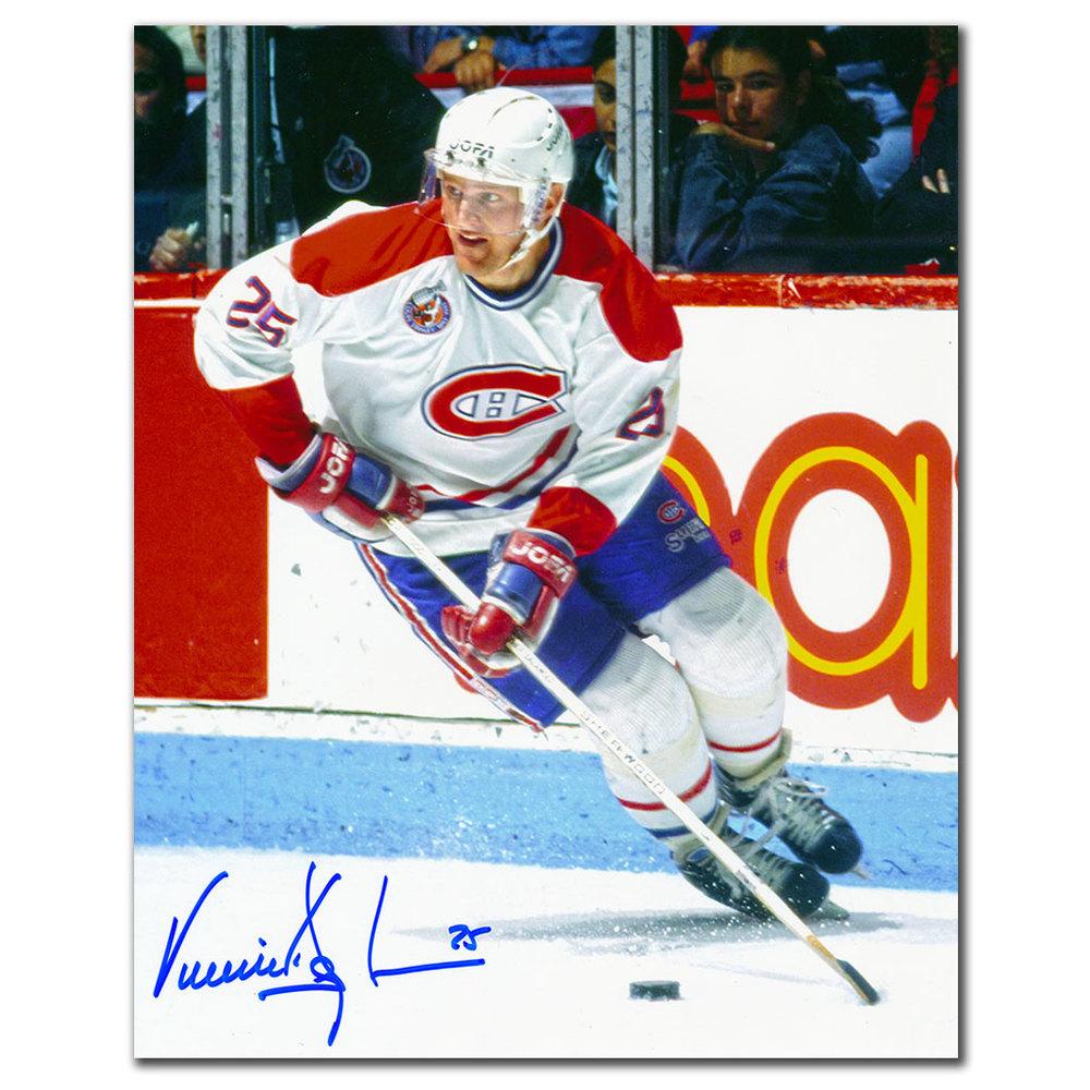 Vincent Damphousse Montreal Canadiens Breakout Autographed 8x10