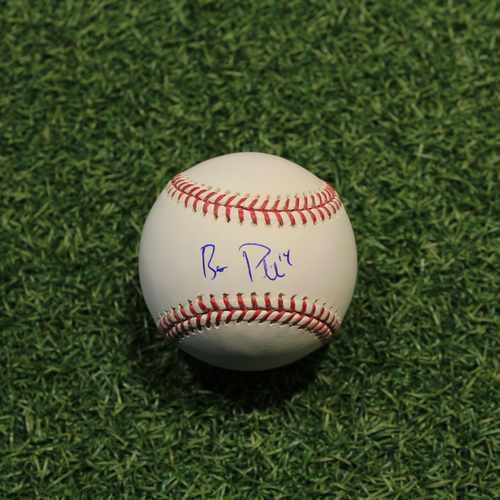 Photo of Autographed Baseball: Brett Phillips