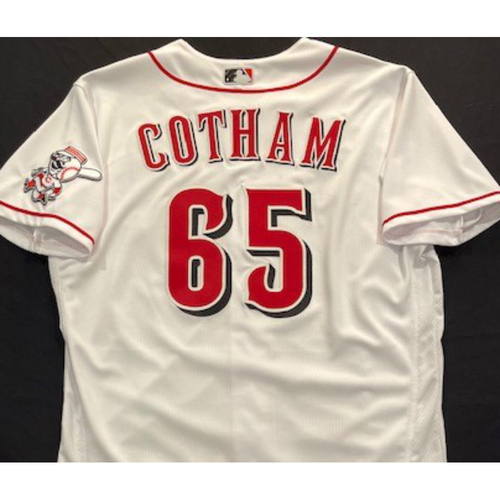 Photo of Caleb Cotham -- 2020 Home White Jersey -- Team Issued -- Size 46