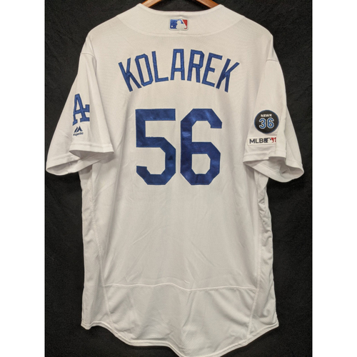 Photo of Adam Kolarek Game-Used Home Jersey, Last Home Game of 2019