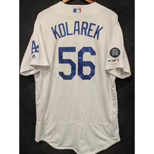 Adam Kolarek Game-Used Home Jersey, Last Home Game of 2019