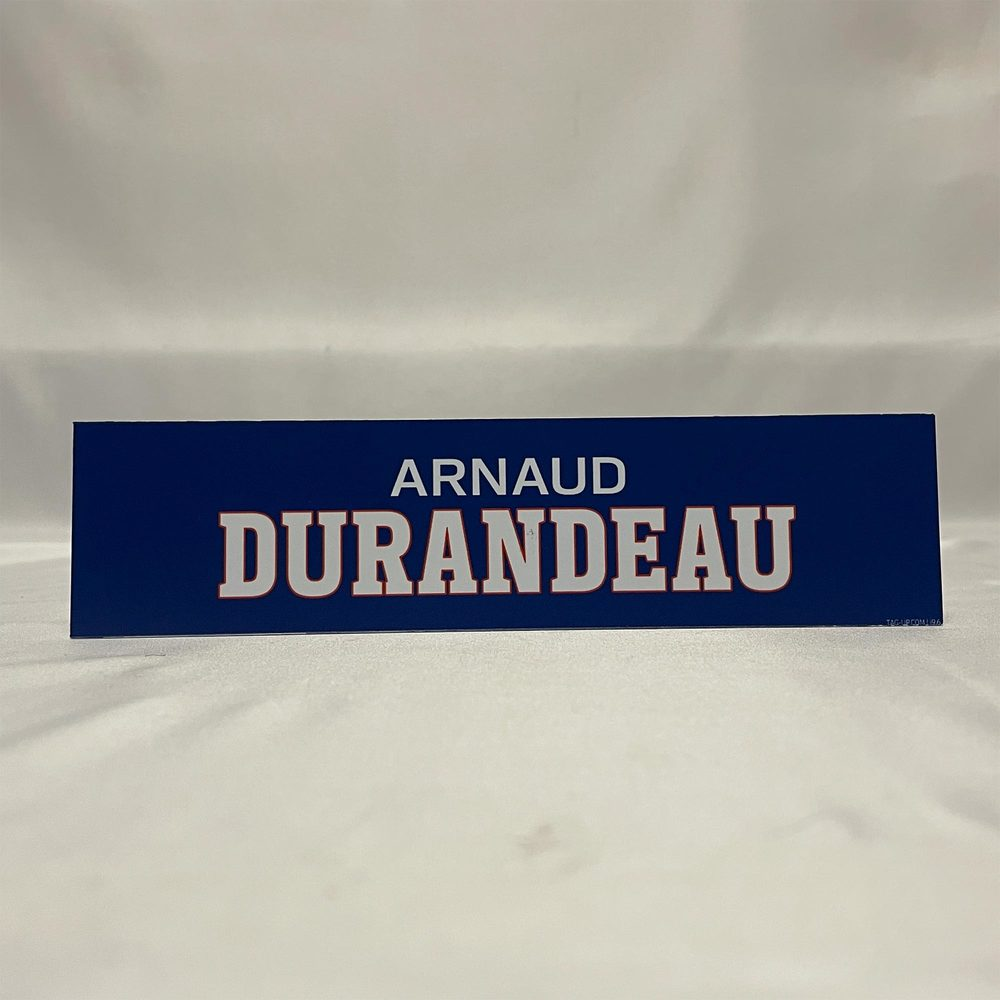 2020-21 Bridgeport Sound Tigers Locker Room Nameplate - #29 Arnaud Durandeau