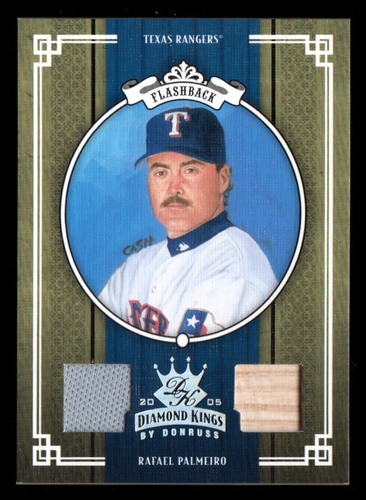 Photo of 2005 Diamond Kings Materials Silver #418 Rafael Palmeiro Rgr Bat-Jsy/50
