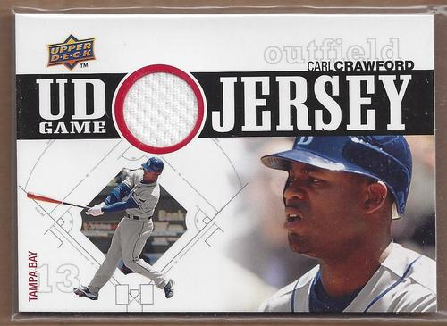 Photo of 2010 Upper Deck UD Game Jersey #CR Carl Crawford