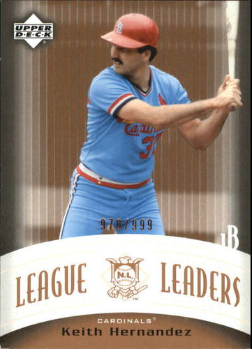 Photo of 2005 Upper Deck Classics League Leaders #KH Keith Hernandez