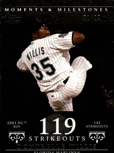 Photo of 2007 Topps Moments and Milestones Black #85-119 Dontrelle Willis/SO 119