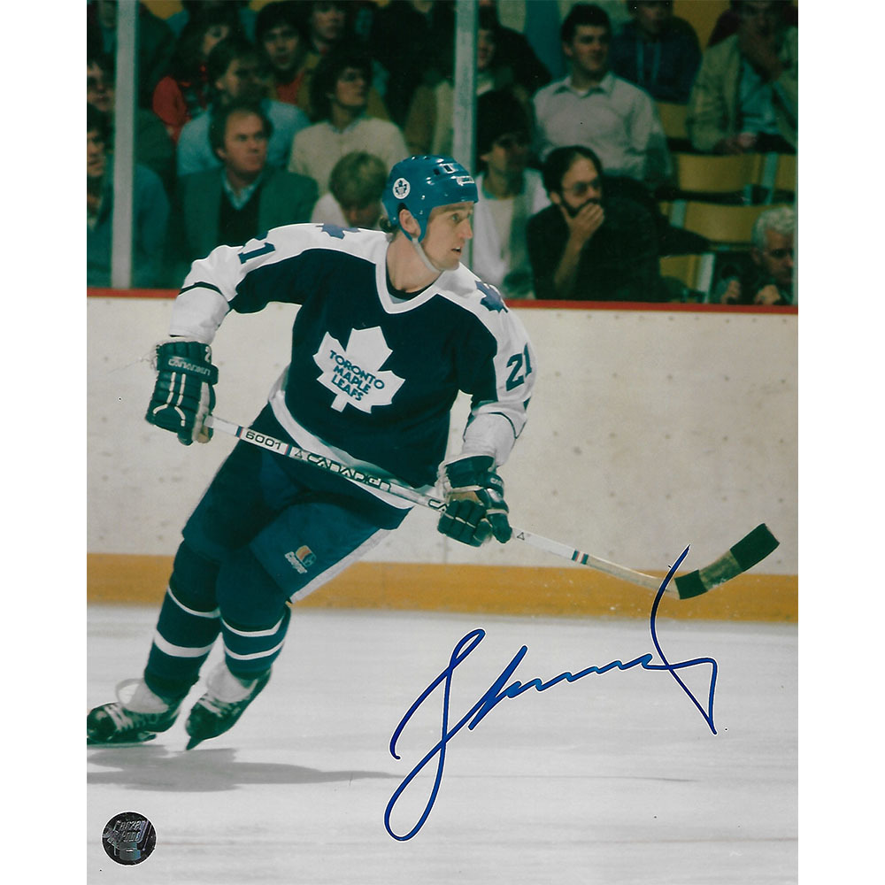 Borje Salming Autographed Toronto Maple Leafs 8X10 Photo