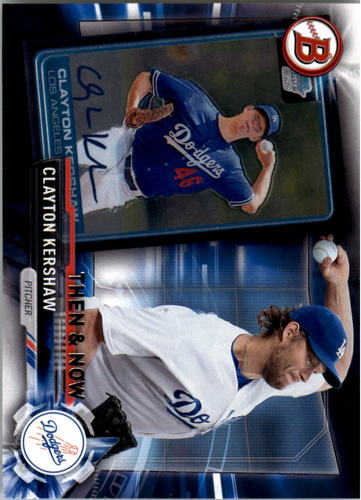 Photo of 2017 Topps Bowman Then and Now #BOWMAN2 Clayton Kershaw