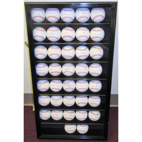 Photo of 2008 Phillies Autographed Baseball Set with Display Case