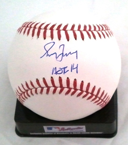 "Photo of Greg Maddux ""HOF 2014"" Autographed Baseball"