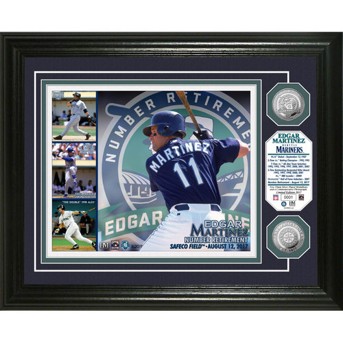 Edgar Martinez Number Retirement Silver Coin Photo Mint