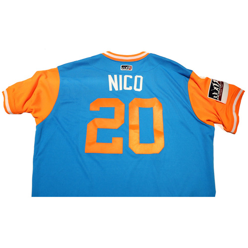 "Photo of Justin ""Nico"" Nicolino Miami Marlins 2017 Game-Used Players Weekend Jersey"