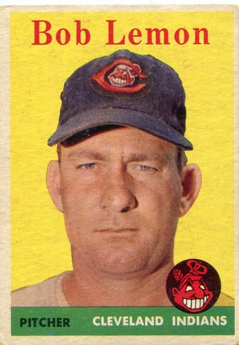 Photo of 1958 Topps #2A Bob Lemon -- Hall of Fame Class of 1976