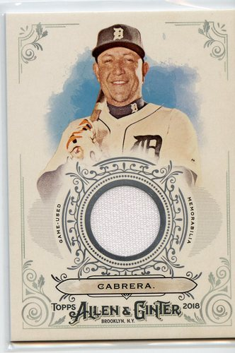 Photo of 2018 Topps Allen and Ginter Relics #FSRBMC Miguel Cabrera B