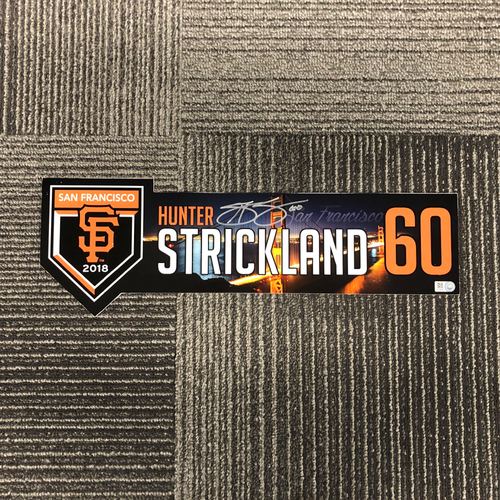 Photo of 2018 Holiday Deal! - 2018 Autographed Team Issued Regular Season Locker Tag (Player Collected) - #60 Hunter Strickland