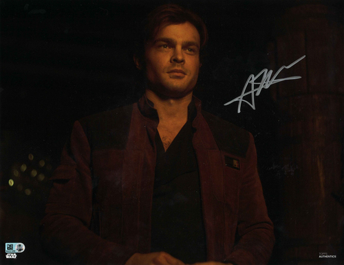 Alden Ehrenreich As Han Solo 11X14 AUTOGRPAHED IN 'SILVER' INK PHOTO