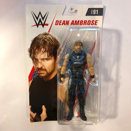 Photo of Dean Ambrose SIGNED Series 91 Action Figure
