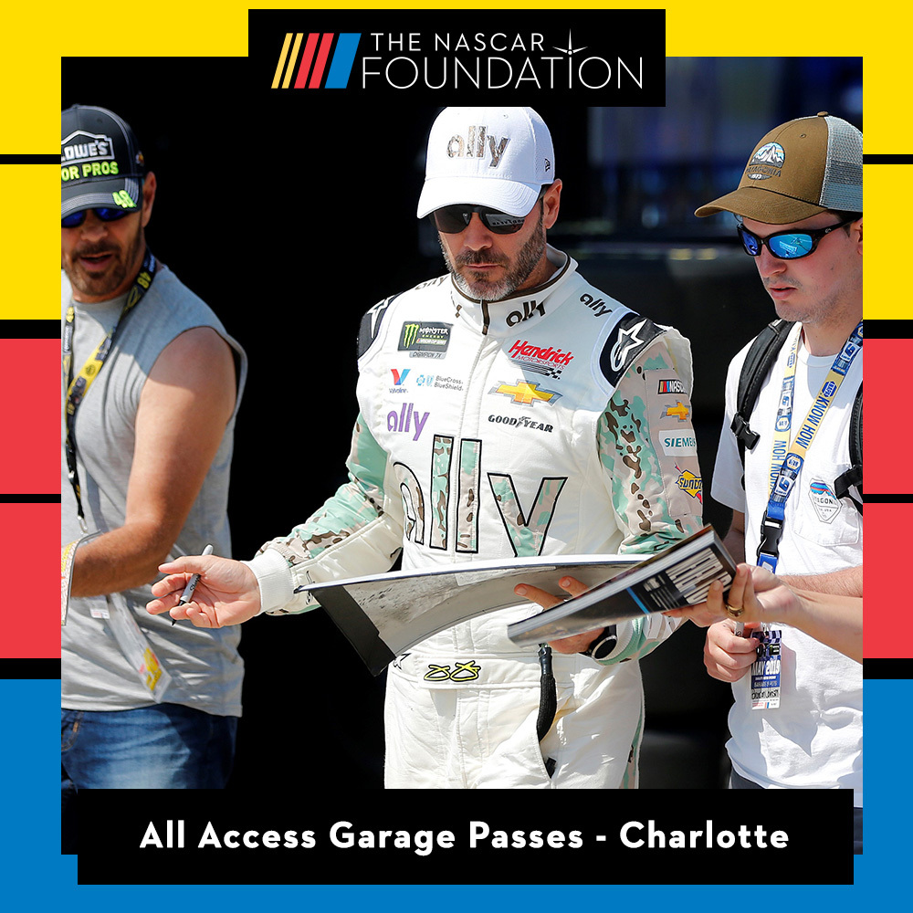 All Access Garage Passes at Charlotte benefitting The Paralyzed Veterans of America!!
