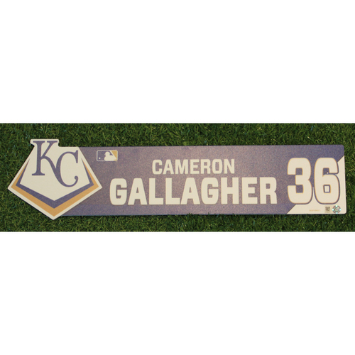 Photo of Game-Used Locker Nameplate: Cam Gallagher (CWS @ KC - 7/16/19)