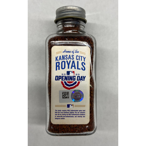 Photo of 2020 Opening Day Game-Used Dirt Jar - Kauffman Stadium