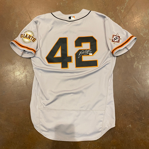Photo of 2020 Jackie Robinson Day Jersey - Team Issued & Autographed - #33 Darin Ruf - Size 46