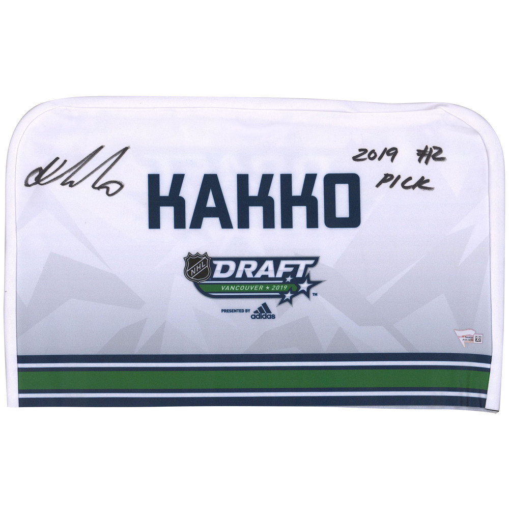 Kaapo Kakko New York Rangers Autographed 2019 NHL Draft Seat Cover - Second set (Not Used)