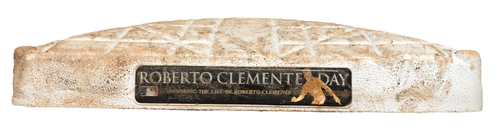 Photo of Game-Used 1st Base -- Roberto Clemente Day -- Used in Innings 1 through 9 on 9/9/20 and 9/9/20 -- Reds vs. Cubs