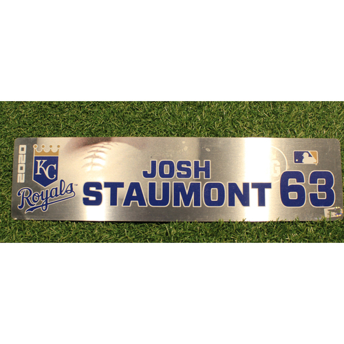 Photo of Game-Used Locker Tag: Josh Staumont #63 (DET @ KC 9/24/20)