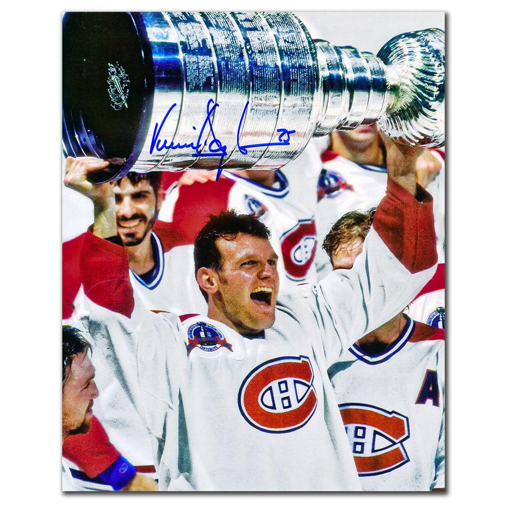 Vincent Damphousse Montreal Canadiens 1993 Stanley Cup Autographed 8x10