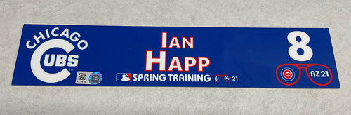 Photo of Ian Happ 2021 Spring Training Locker Nameplate
