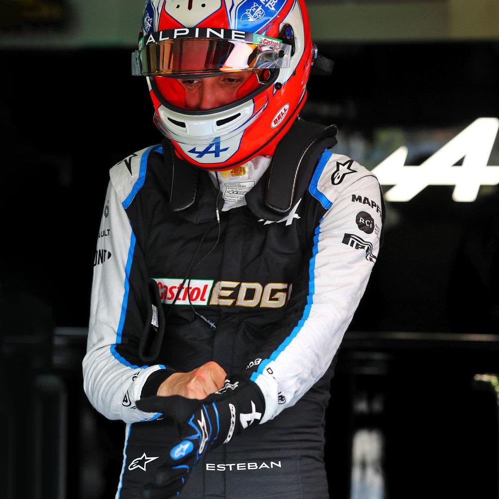 Esteban Ocon 2021 Framed Signed Race-worn Race Suit - Spanish GP