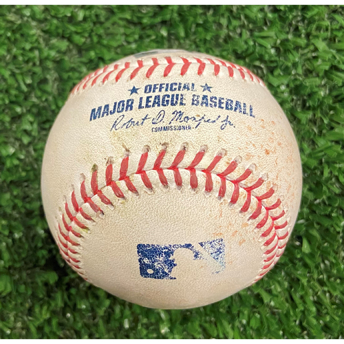 Photo of Adam Duvall Hit Single Baseball off Eric Lauer - 10/12/21- NLDS Game 4, Braves Win NLDS