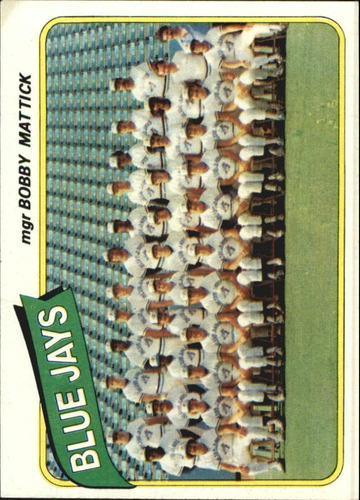 Photo of 1980 Topps #577 Toronto Blue Jays CL/Bobby Mattick MG