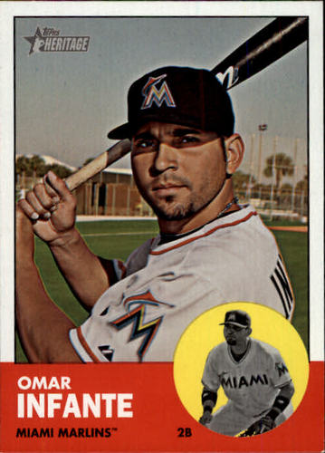 Photo of 2012 Topps Heritage #464 Omar Infante SP