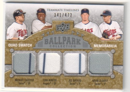 Photo of 2009 Upper Deck Ballpark Collection #280 Michael Cuddyer/Joe Nathan/Kevin Slowey/Torii Hunter/472