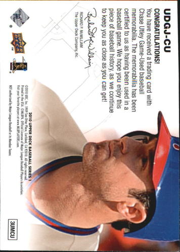 Photo of 2010 Upper Deck UD Game Jersey #CU Chase Utley
