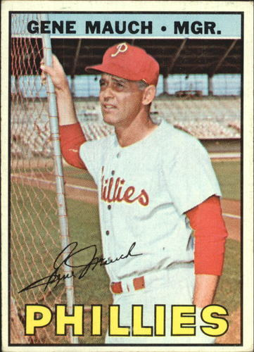 Photo of 1967 Topps #248 Gene Mauch MG