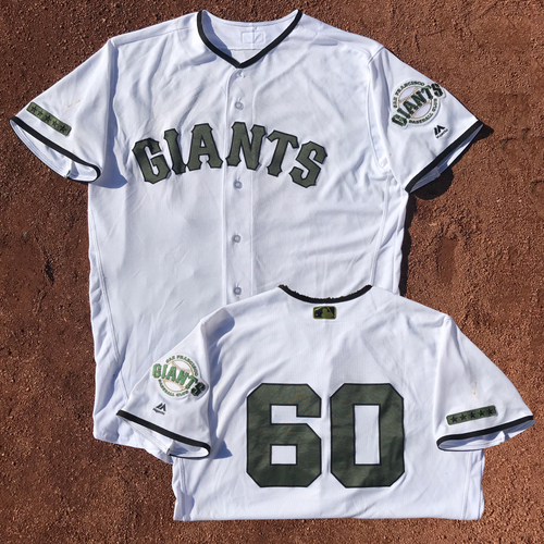 San Francisco Giants - Game-Used Memorial Day Jersey - Hunter Strickland #60 - Worn May 27-29 - (size 48)