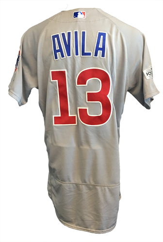 Alex Avila Game-Used Jersey -- NLDS Game 2 -- Cubs at Nationals -- 10/7/17