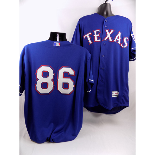 Photo of Blue Texas Rangers Team-Issued Jersey - #86