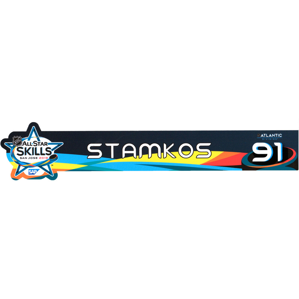 Steven Stamkos Tampa Bay Lightning Event-Used #91 Locker Nameplate from All-Star Skills Competition