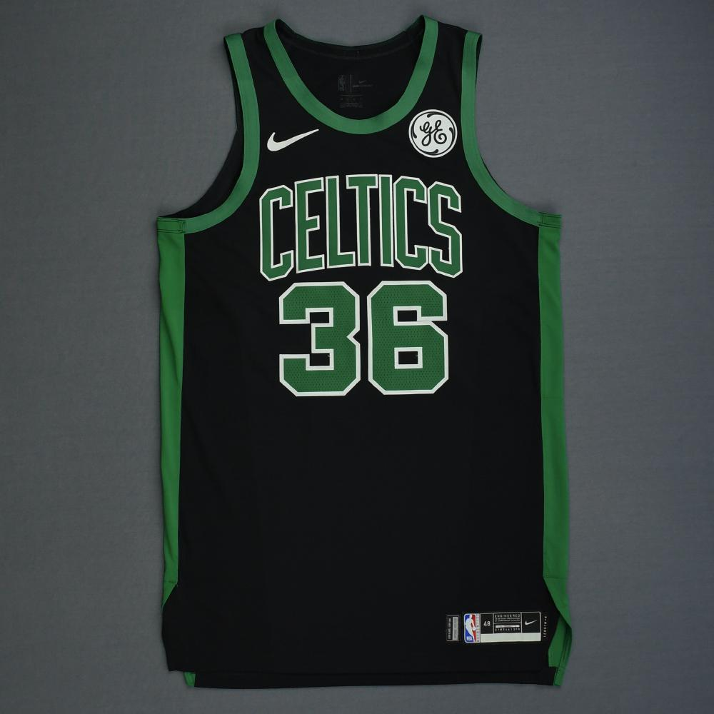 Marcus Smart - Boston Celtics - 2019 NBA Playoffs - Game-Issued Black Statement Edition Jersey
