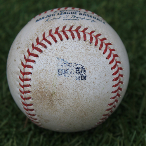 Photo of Game-Used Baseball: MLB in Omaha - Whit Merrifield 115th Career Double (DET @ KC - 6/13/19)