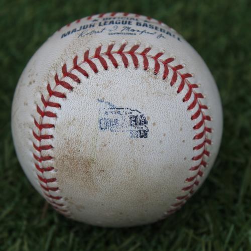 Game-Used Baseball: MLB in Omaha - Whit Merrifield 115th Career Double (DET @ KC - 6/13/19)