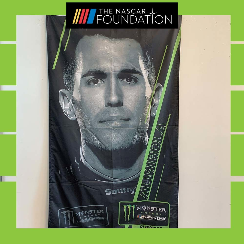 NASCAR's Aric Almirola Autographed Banner!